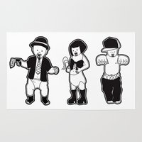 gangster Area & Throw Rugs featuring Gangster babies. by Lacey Jae