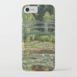 Monet - The Japanese Footbridge and the Water Lily Pool iPhone Case