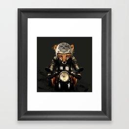 Fox Biker Framed Art Print