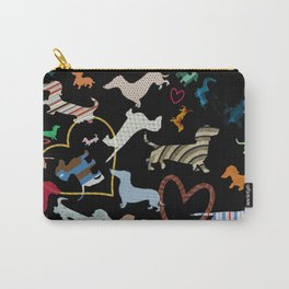 dachshund dog. love. pattern Carry-All Pouch