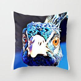 Pippa the Peacock (number 04) Throw Pillow