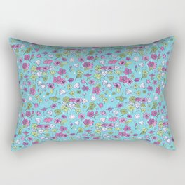 Flowers, Clovers & Diamonds Rectangular Pillow