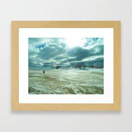 Winter Dunescape Framed Art Print