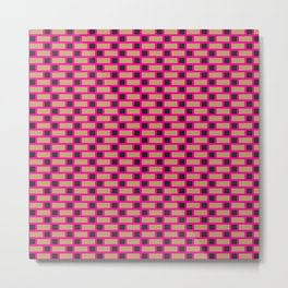Brick (Pink, Brown, and Black) Metal Print