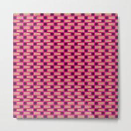 Brick (Pink, Brown, and Black) Metal Print