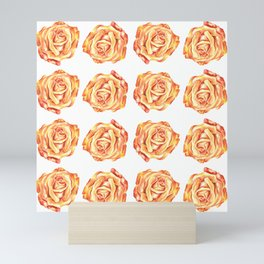 Pretty Pink Rose Floral Design Mini Art Print