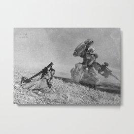 The Falling Soldier 2 Metal Print