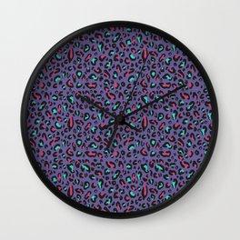 Ultra Violet Leopard Signature Andreiaqua Wall Clock