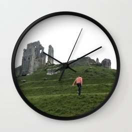 Corfe Castle Wanderlust medieval Wall Clock