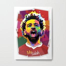 Mo Salah WPAP Metal Print