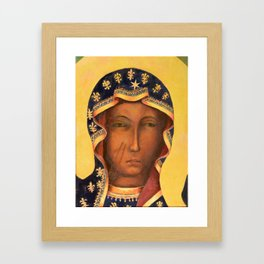 Virgin Mary Our Lady of Czestochowa Catholic wall art Religious Christmas Gift Framed Art Print
