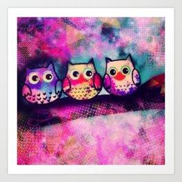 owl-88 Art Print