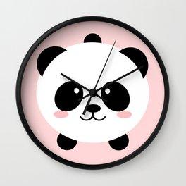 Lovely kawai panda bear Wall Clock