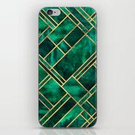 Emerald Blocks iPhone Skin