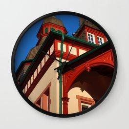 Moorish corner tower Wall Clock