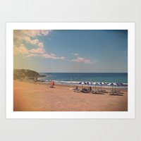 spanish Art Prints featuring Spanish Sunbathers by ZBOY