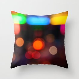 Night Light Colors Throw Pillow