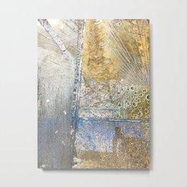 Aqua Metallic Wet Metal Print