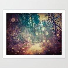 Nature Path - Vintage Magical Fae Art Print