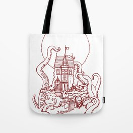 The Midnight Chateau Red Line Tote Bag
