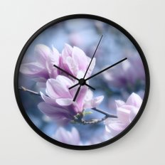 Magnolia beauty, patterns of nature Wall Clock
