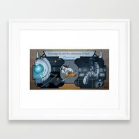 glados Framed Art Prints featuring Portal Deco by Dojo