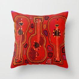 Flamenco Guitars Throw Pillow