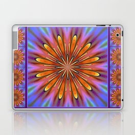 Modern Golden Mandala Daisy Laptop & iPad Skin