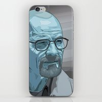 walter white iPhone & iPod Skins featuring Walter by Digital Sketch