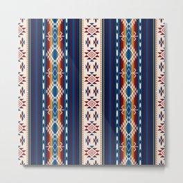 Rainbow Native American Tribal Water Pattern Metal Print