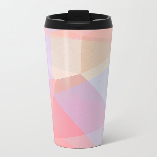 Powder Geometry - bright Metal Travel Mug