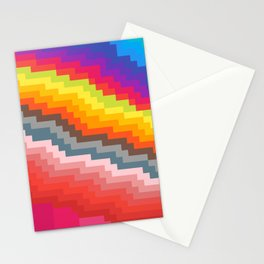 Pixel art rainbow Stationery Cards