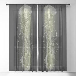 Glowing Jellyfish Sheer Curtain
