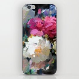 Still Life with White & Pink Roses iPhone Skin