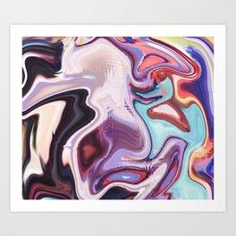 pixel glitch marble Art Print