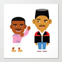 fresh prince Canvas Prints featuring The Fresh Prince (Version 2) by Evan Gaskin