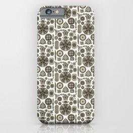 Ernst Haeckel Diatoms in Vintage Brown iPhone Case