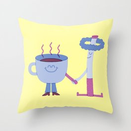 SBF: Coffee & Cigarette Throw Pillow