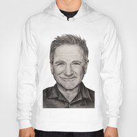 robin williams Hoodies featuring Robin Williams by Lindsay Hall