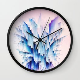 Pineapple crown - galactic glitch II Wall Clock