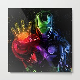 Avenger Infinity Wars Iron Man Abstract Painting - Iron Man Graffiti Metal Print