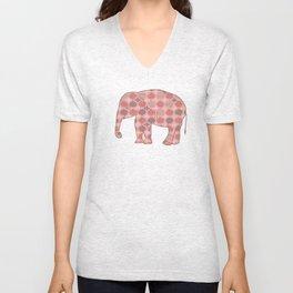Bohemian Pink Elephant Unisex V-Neck