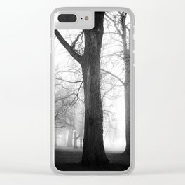 Fogy Forest Clear iPhone Case