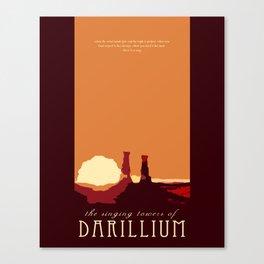 Doctor Who Minimalist Travel Poster - Darillium Canvas Print
