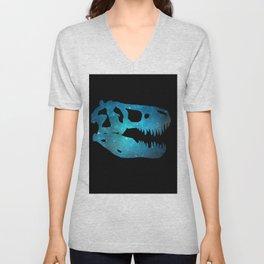 T-Rex Skull Unisex V-Neck