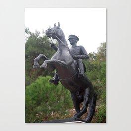 Ataturk on Horseback Canvas Print