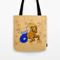 capricorn Tote Bags featuring Capricorn by Giuseppe Lentini