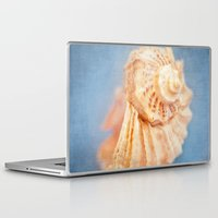 seashell Laptop & iPad Skins featuring Seashell by The Last Sparrow