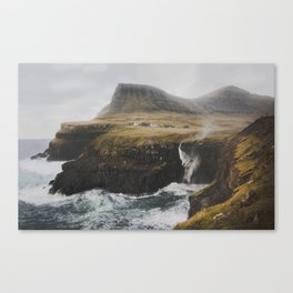 Gásadalur fossur Canvas Print