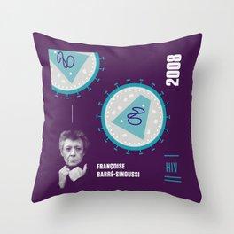 Beyond Curie: Francoise Barré-Sinoussi Throw Pillow